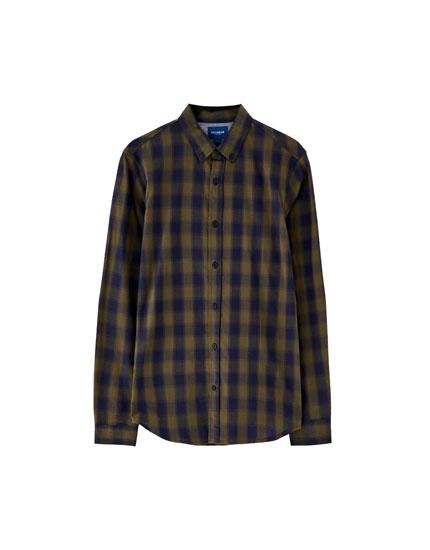 Basic overhemd in vichyruit