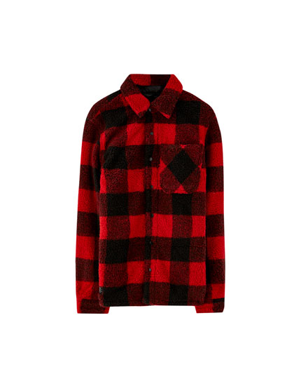 Buffalo check overshirt with lining