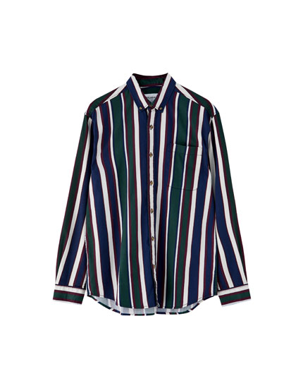 Shirt with retro stripe
