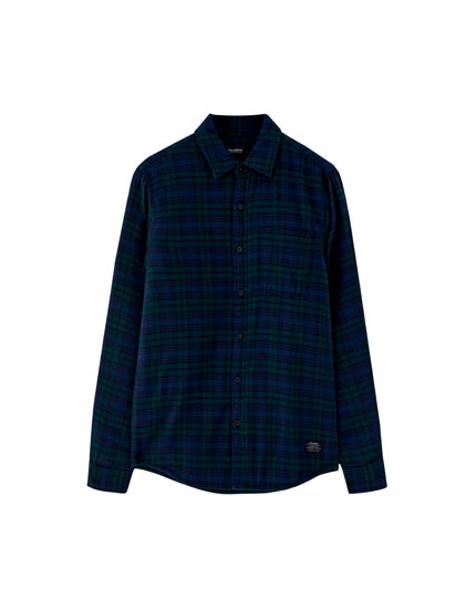Lightweight quilted flannel shirt
