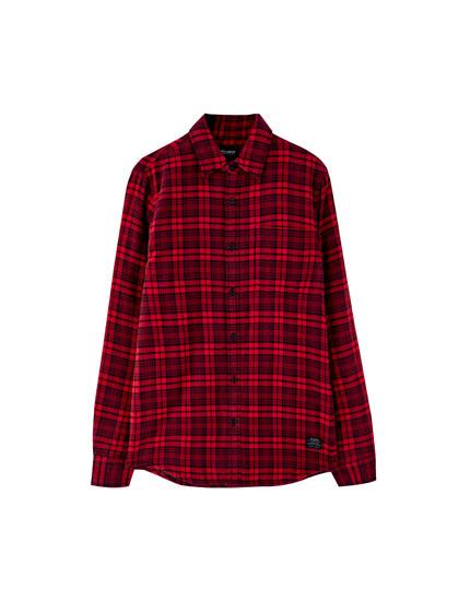 Camisa franel·la embuatat lleuger