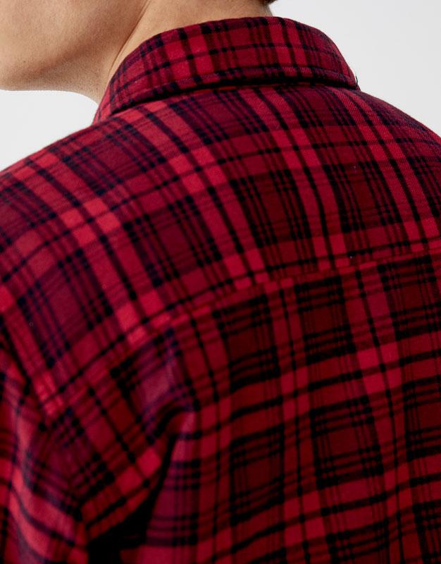 Pull & Bear - Camisa franela acolchado ligero - 3