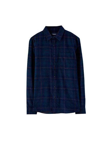 Corduroy check shirt