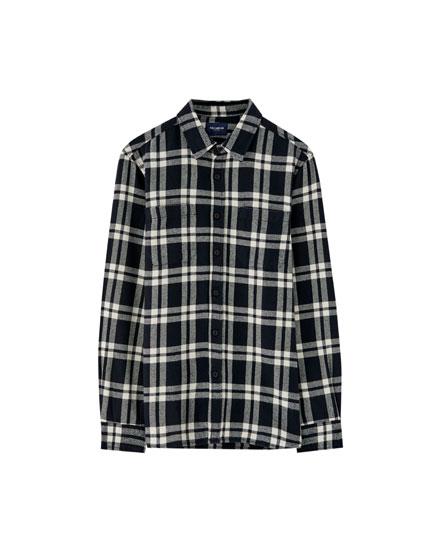 Camisa de quadres franel·la