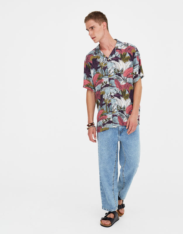 Chemise Viscose Jungle Couleurs by Pull & Bear