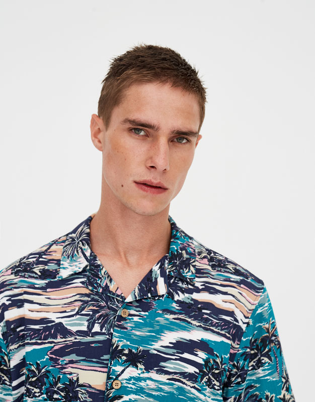Chemise Viscose Aloha by Pull & Bear