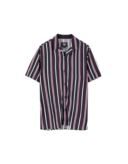 Viscose shirt with stripes