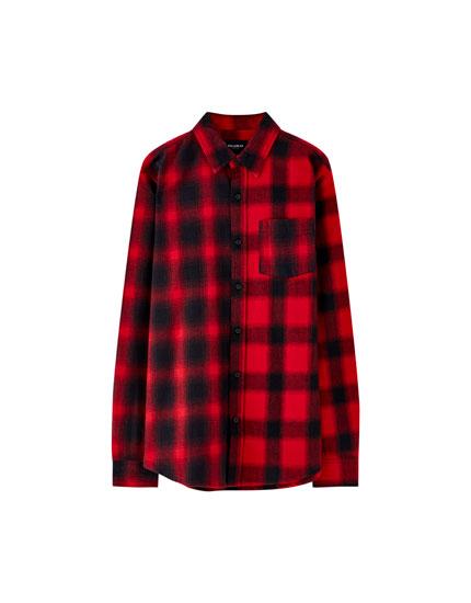 Camisa quadres patchwork