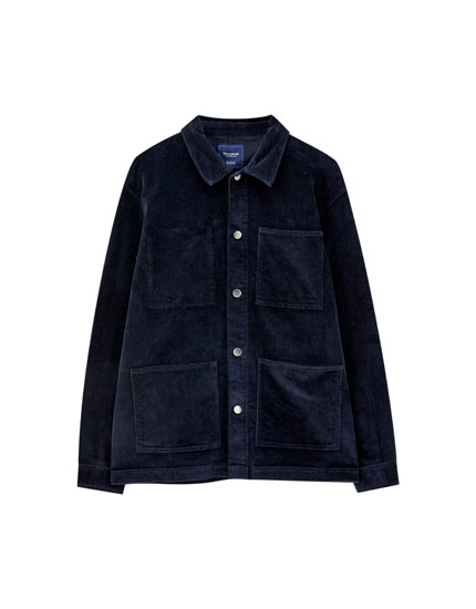 Corduroy overshirt with pockets