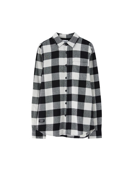 Camisa de quadres màniga llarga