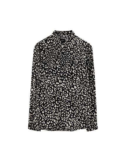 Black and white animal print shirt