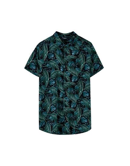 Camisa print tropical
