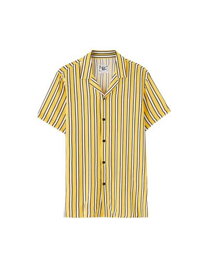 Camisa viscosa rayas amarillas