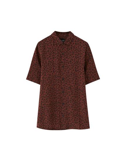 Overhemd met panterprint