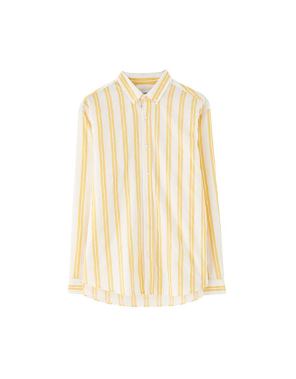 Shirt with two-tone stripes