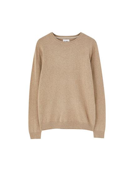 Basic-Pullover mit Rundausschnitt