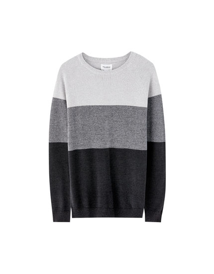 Sweater color block punto torzal