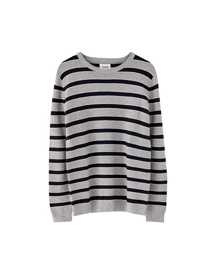 Striped ottoman sweater
