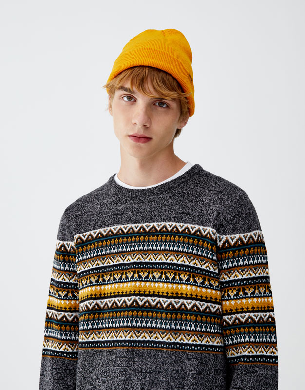 Sweater Jacquard Pecho by Pull & Bear