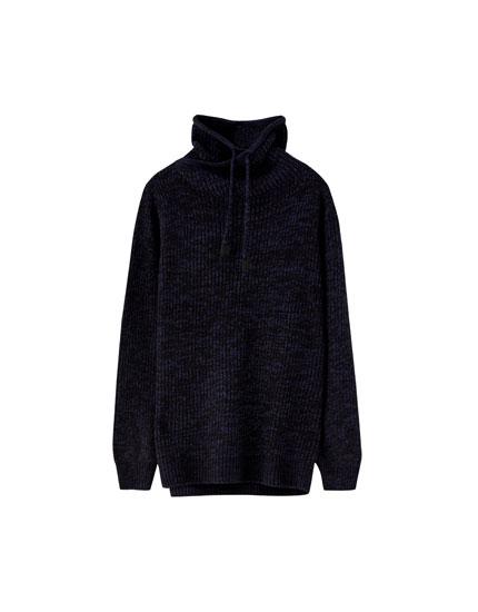 Sweater cuello envolvente