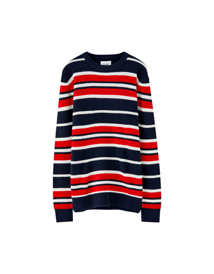 Colourful stripes sweater