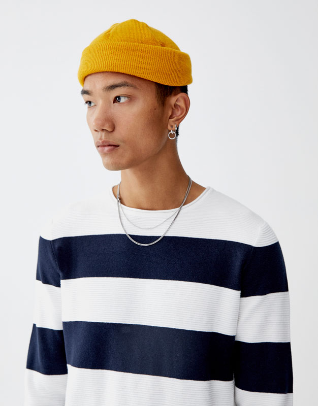 Sweater às Riscas Largas by Pull & Bear