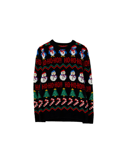 Black Christmas sweater