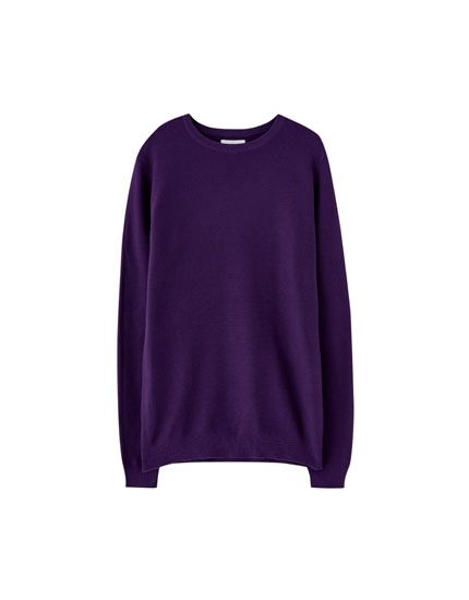 Sweater básica estrutura fina