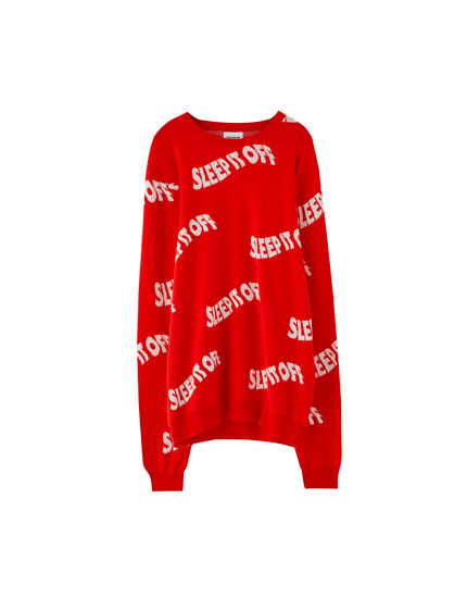 Sweater texto allover