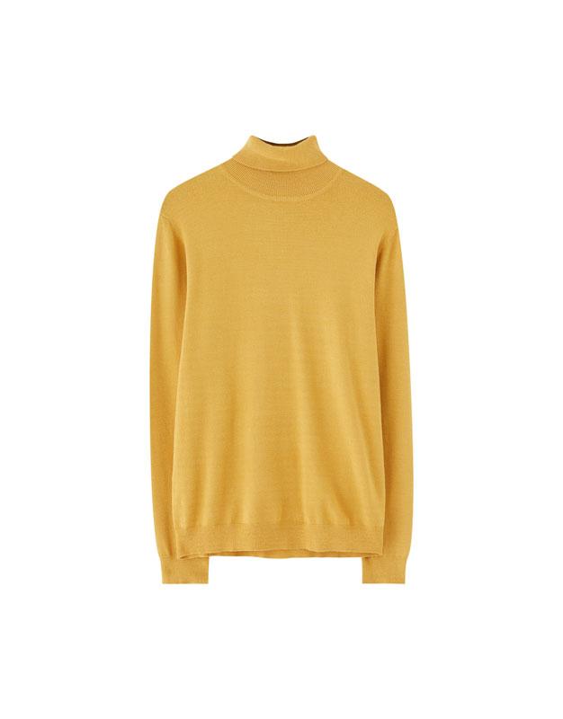 Plain Viscose Turtleneck Sweater Pullbear