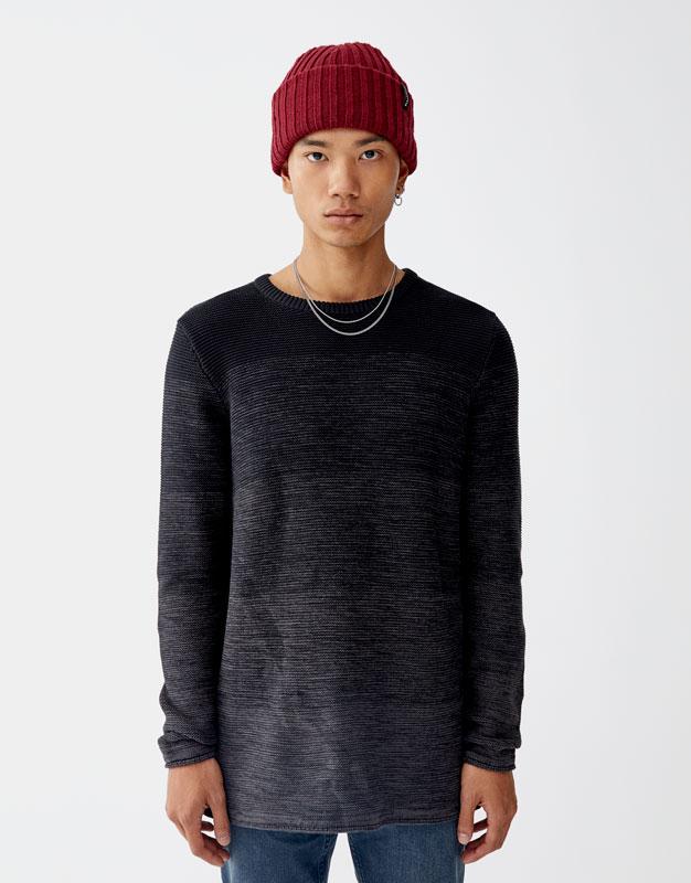 a85f73a640fe Ombré-effect sweater - PULL BEAR
