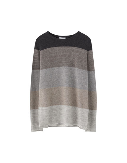 Ombré-effect fine knit sweater