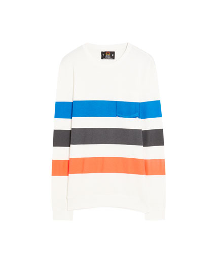 Sweatshirt med neonstriber Pacific Republic