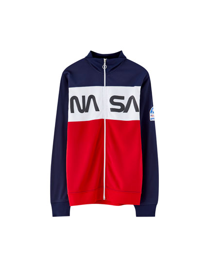 Sweat Nasa fermeture éclair