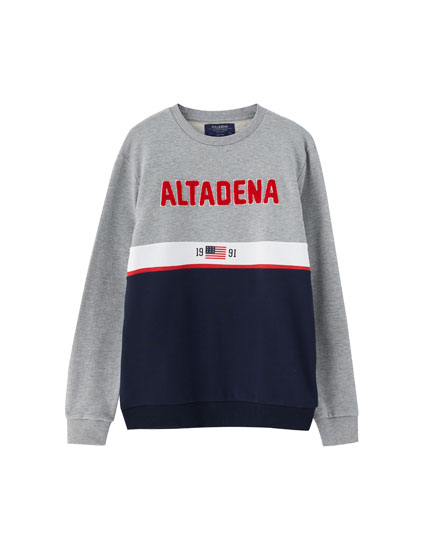 Panels sweatshirt with slogan