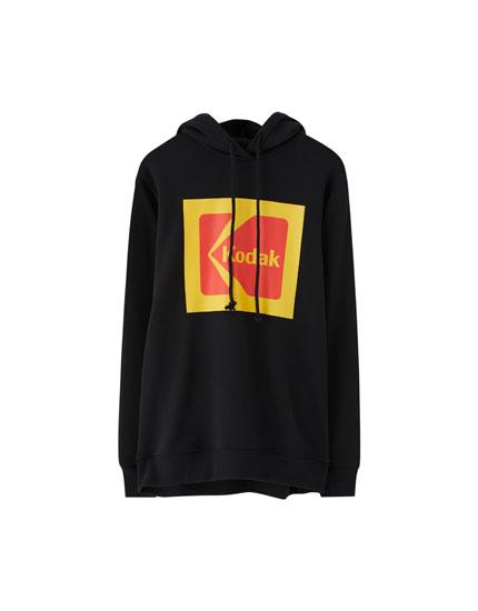Kodak Sweatshirt mit Kapuze
