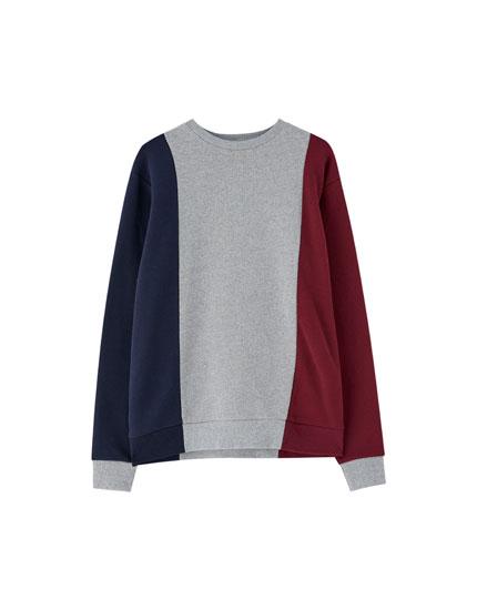 Vertical panel sweatshirt