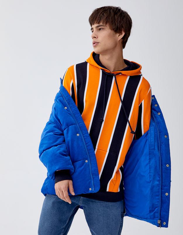 Sweatshirt Com Capuz E Risca Vertical by Pull & Bear