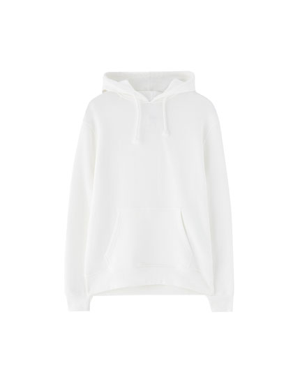 Hooded sweatshirt with pouch pocket