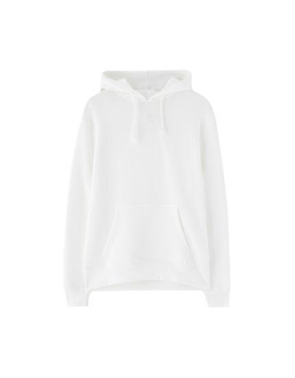 Basic pouch-pocket sweatshirt