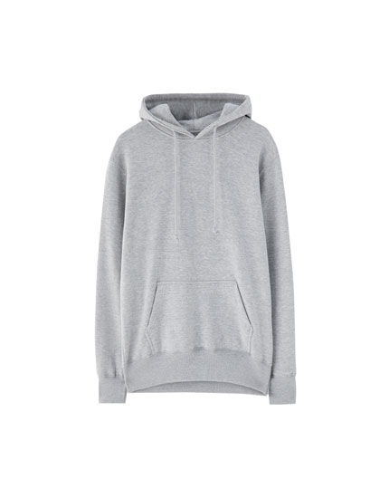 Basic pouch-pocket sweatshirt