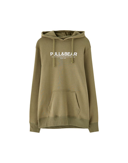 Sweat basic capuche kangourou