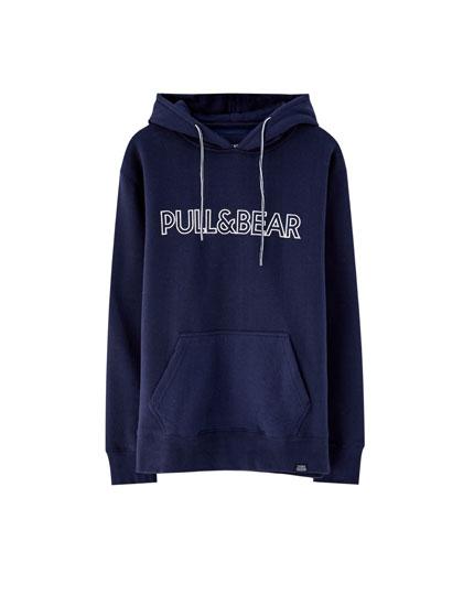 Sweat à capuche avec logo Pull&Bear