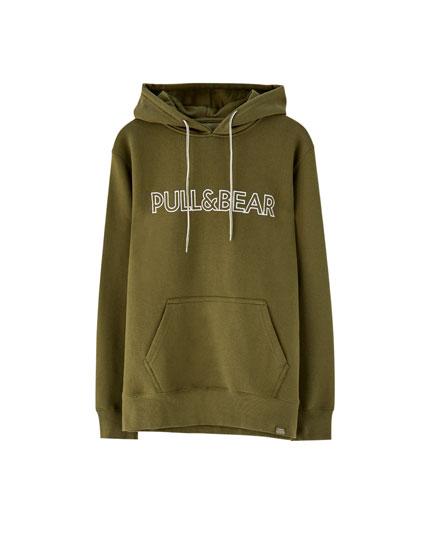 Capuchonsweater met Pull&Bear logo