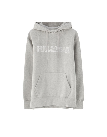 Pull Bear logolu ve kapüşonlu sweatshirt