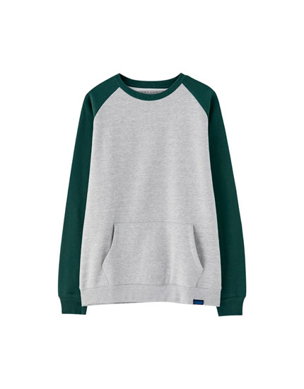 Sweat manches raglan contrastantes