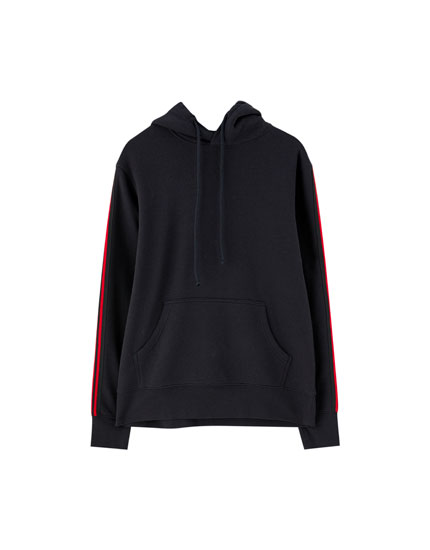 Hoodie with side taping