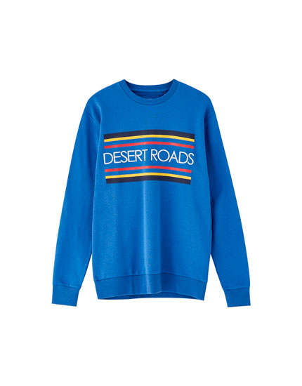 'Desert roads' embroidered sweatshirt