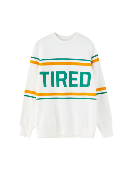 Round neck slogan sweatshirt