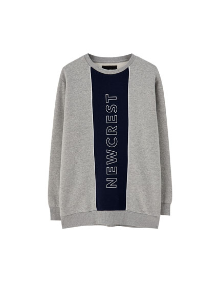 Vertical panel sweatshirt